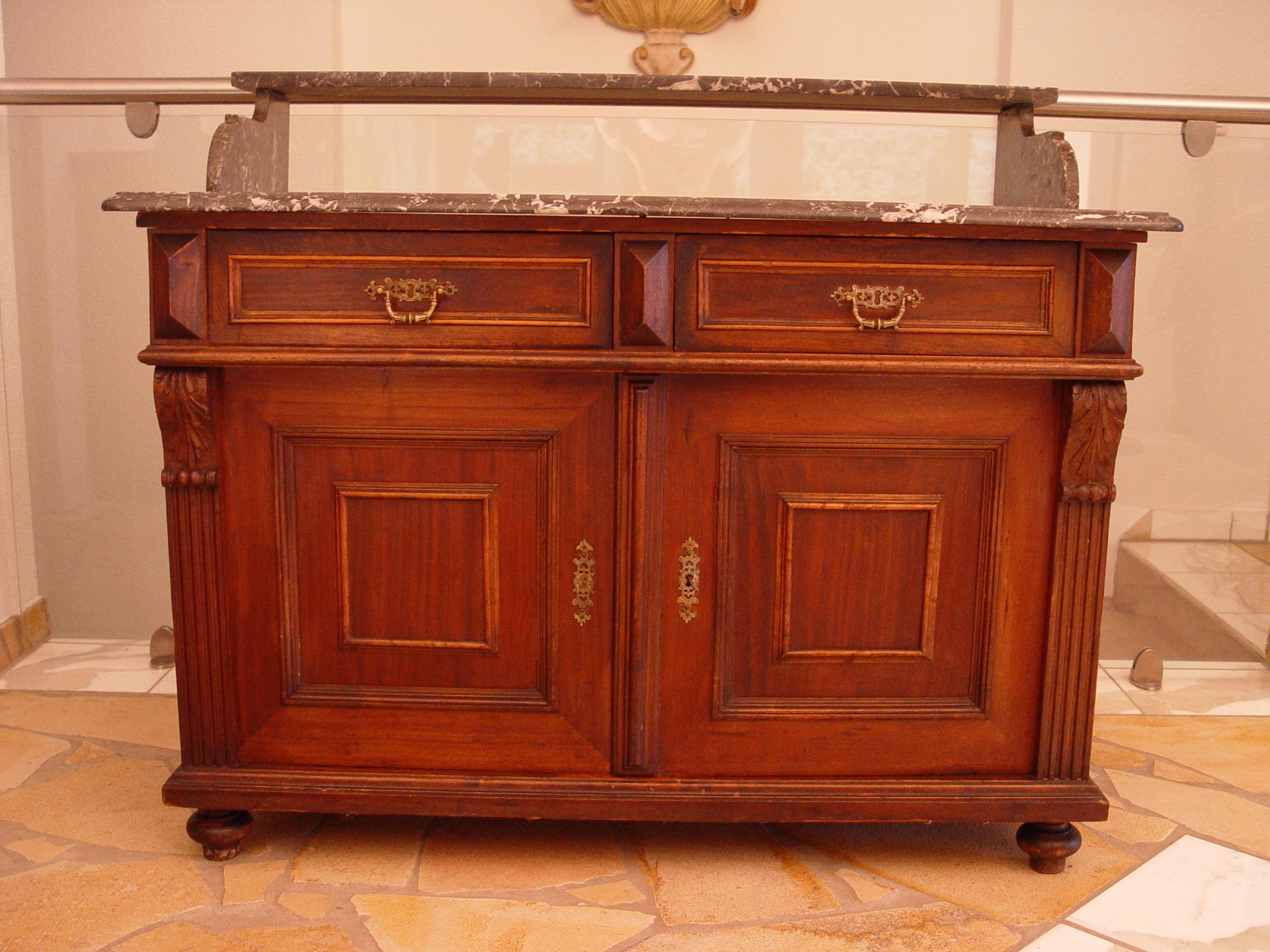 kommode waschkommode schreibtisch gr nderzeit um 1880 ebay. Black Bedroom Furniture Sets. Home Design Ideas